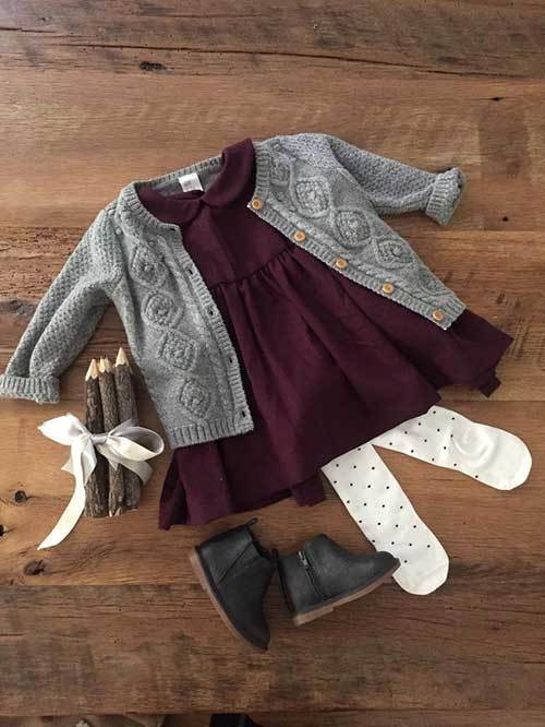 Simple Little Girl Outfits for Fall