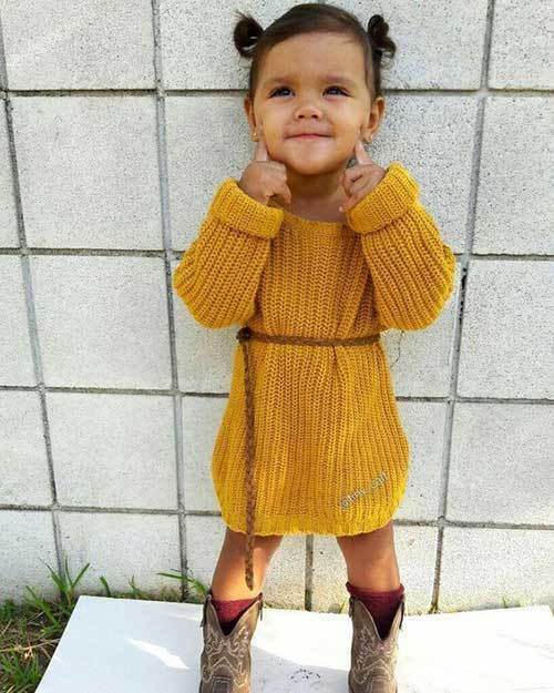 Little Girl Sweater Dress Outfits for Fall