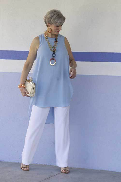 Tunic Summer Outfits for Women Over 50