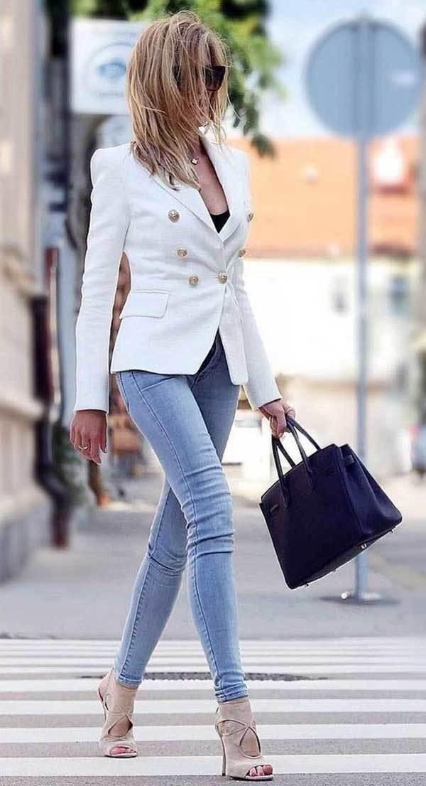 Blazer Outfits Skinny Jeans