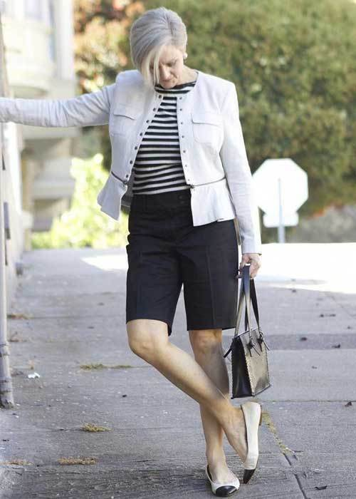 Summer Blazer Jacket Outfits for Women Over 50