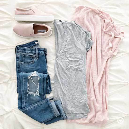 Baby Pink Shoes Outfit