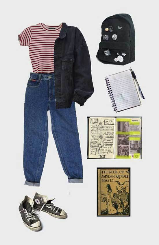 Mom Jeans Outfits for School