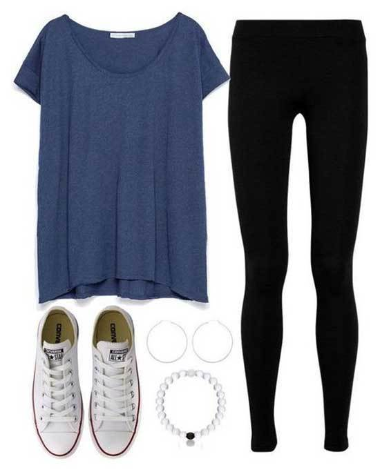 Leggings Outfits for School