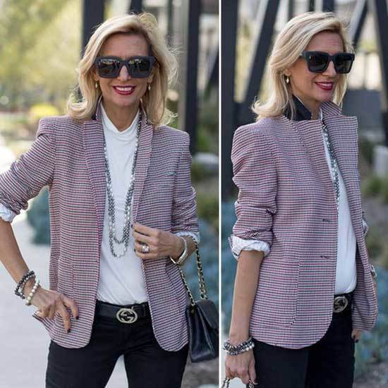 Spring Blazer Outfits for Over 50