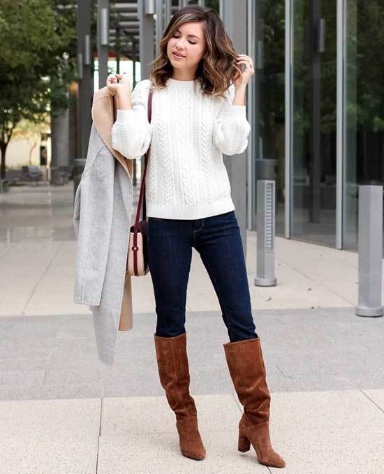Brown Boots Autumn Outfit Ideas