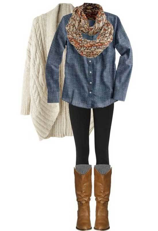 Brown Boots Black Thight Outfit Ideas