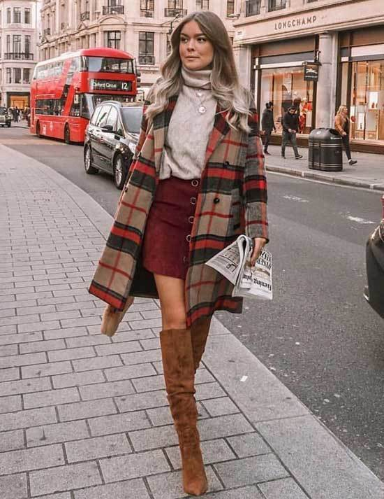 Brown Boots Coat Outfit Ideas