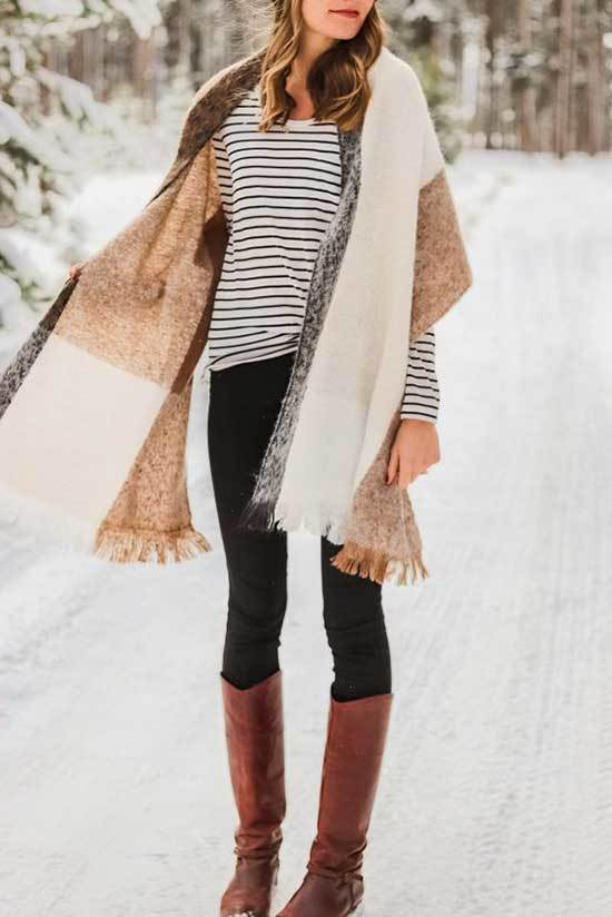 Brown Boots Cute Winter Outfit Ideas