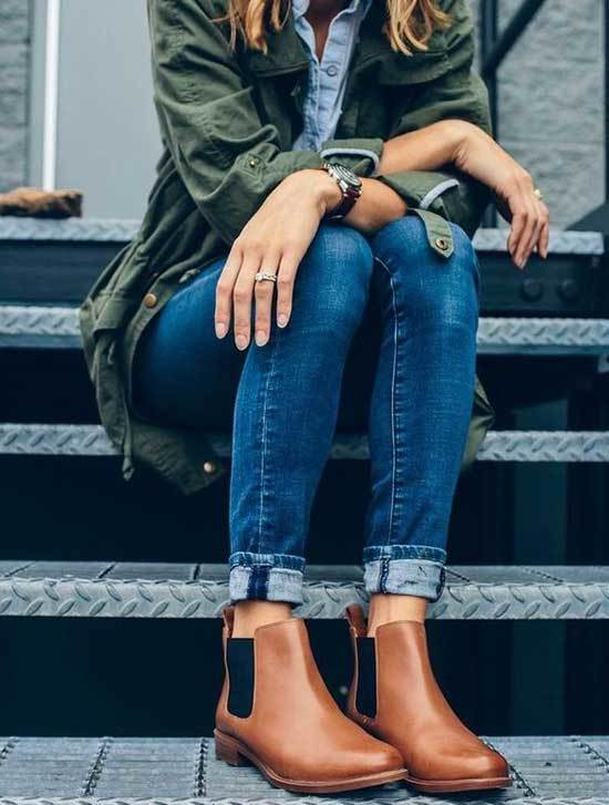 Brown Tan Chelsea Boots Outfit Ideas