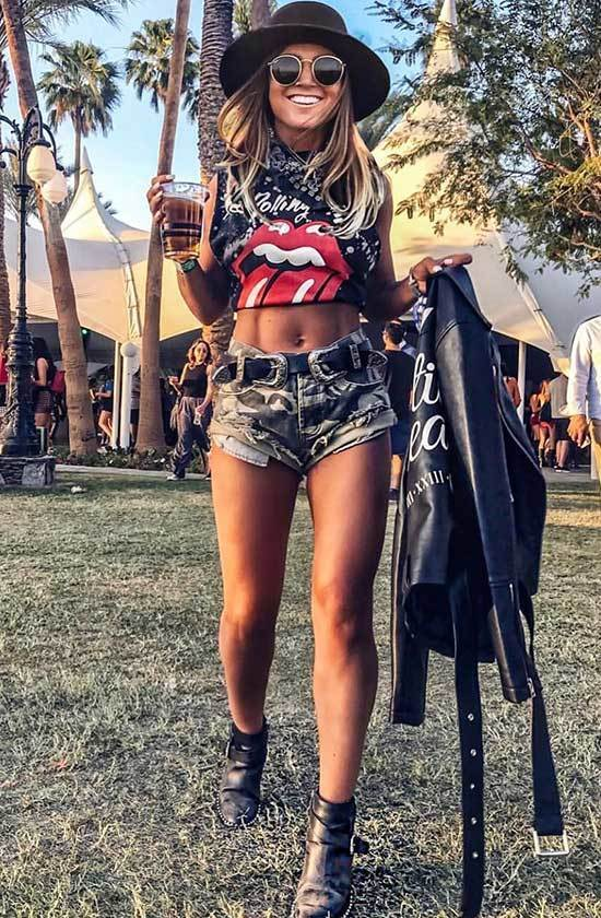 Camouflage Mini Shorts Festival Outfits Women