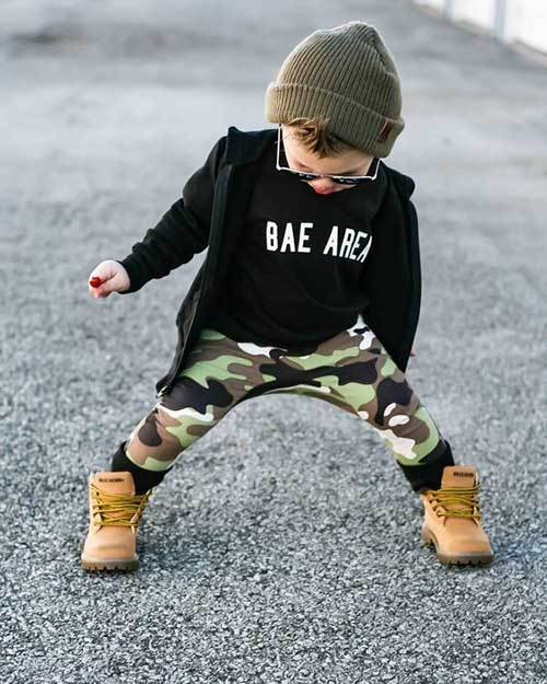 Autumn Camouflage Pants Outfits for Toddler Boy