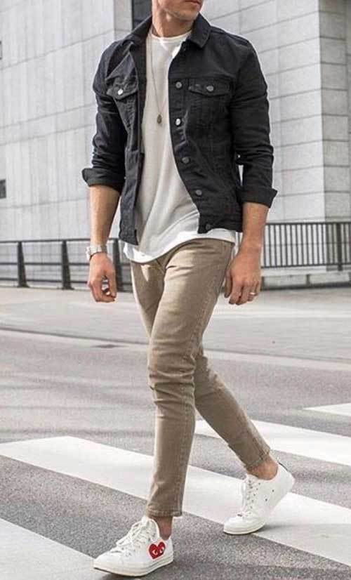 Unstoppable {Hester} Casual-Mens-Dark-Blue-Jean-Jacket-Outfit