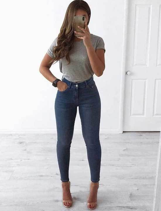 Cute Outfits with Blue Jeans with Heels