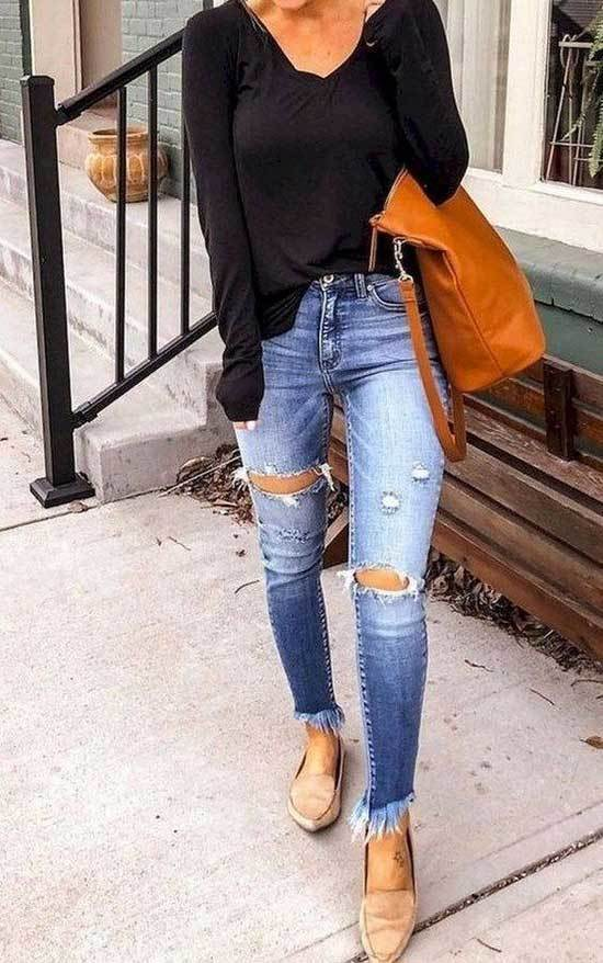 Cute Spring Outfits with Blue Jeans