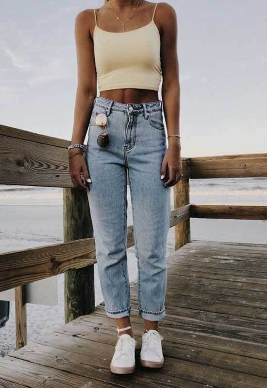 Cute Outfits with Mom Jeans