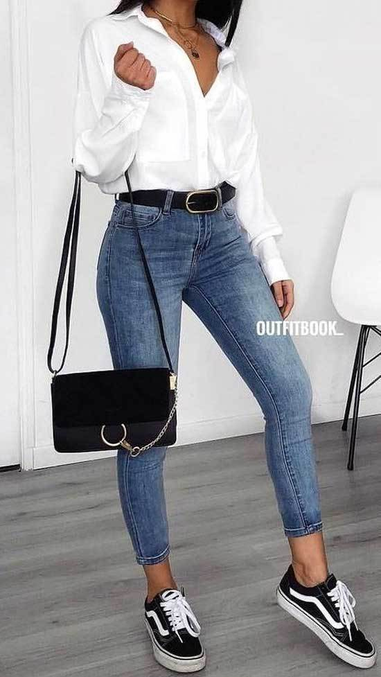 Cute Daily Outfits with Blue Jeans