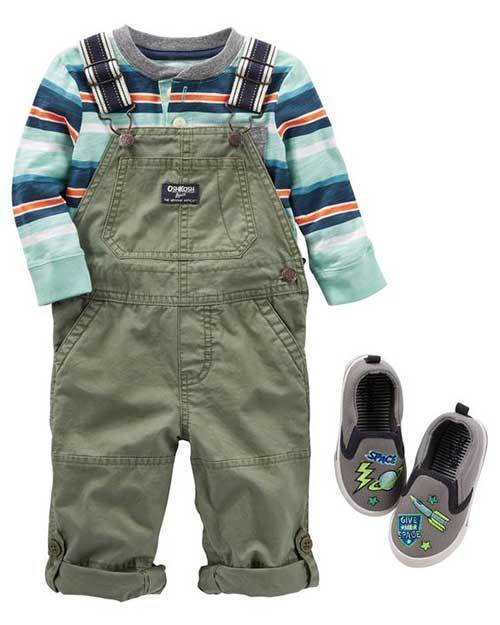 Cute Little Boys Overalls Autumn Outfits