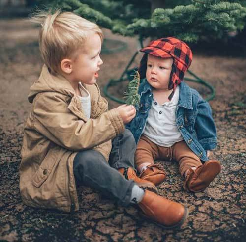 Autumn Siblings Outfits for Toddler Boy