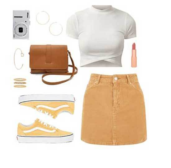 Cute Skirt Outfits for School