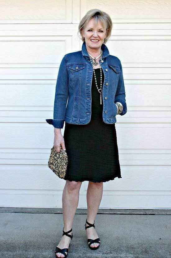 Denim Jacket Spring Outfits for Over 50