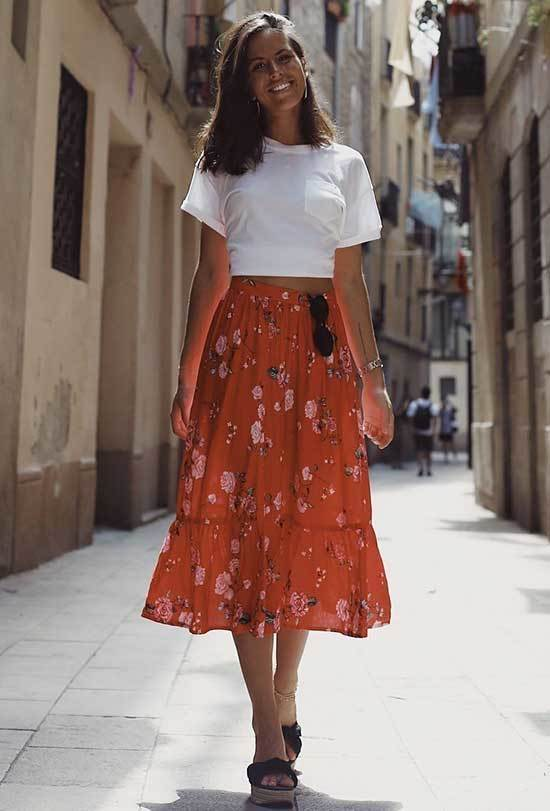 Cute Spring Outfits with High Waisted Skirts