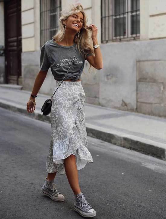 High Waisted Skirt Outfit