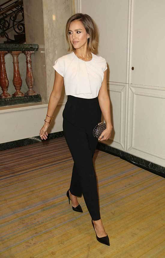 Simple Office Outfits From Jessica Alba