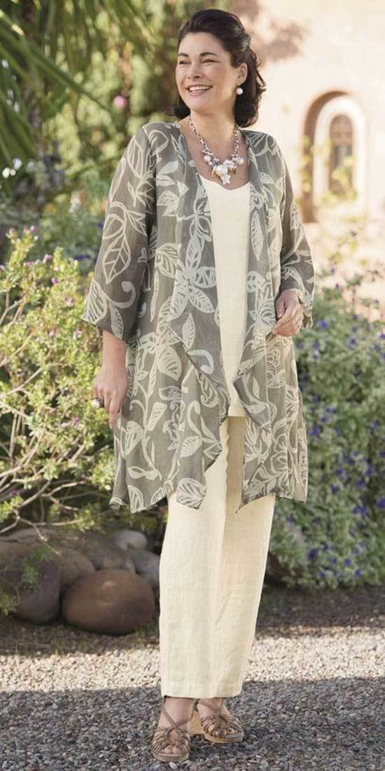 Spring Kimono Cardigan Outfits for Over 50