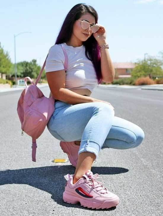 20 Pink Sneakers Outfit Ideas for Creating a Sporty Style
