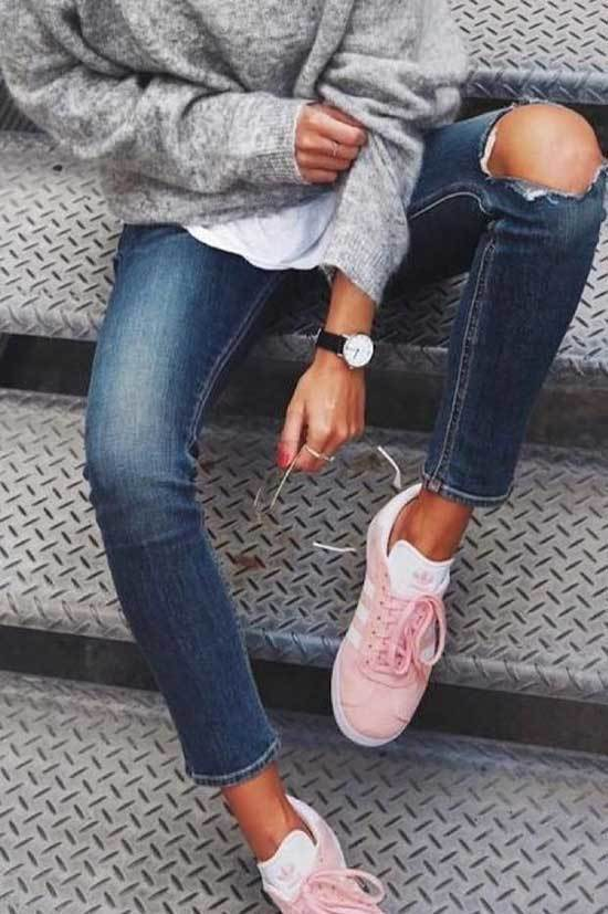 Pink Sneakers Outfit