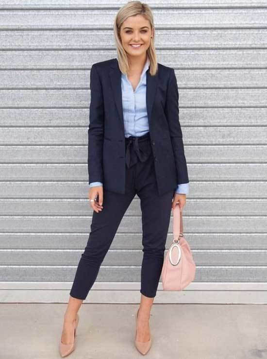 Simple Office Outfits Color Match