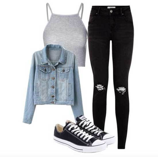 Black Jeans Outfits for School