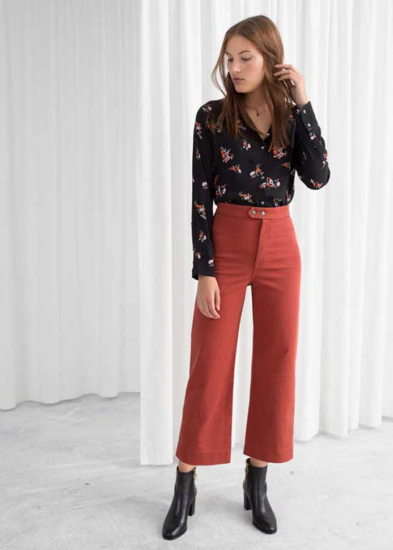 Wide Legged Pants Outfits for office