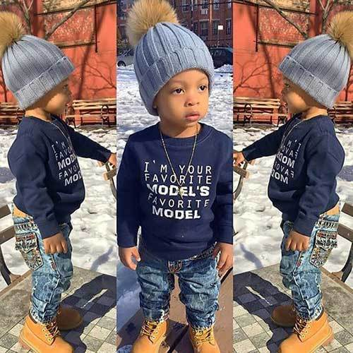 Swag Look Autumn Outfits for Toddler Boy