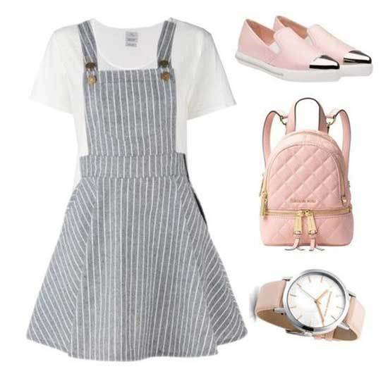 Striped Dress Outfits for School