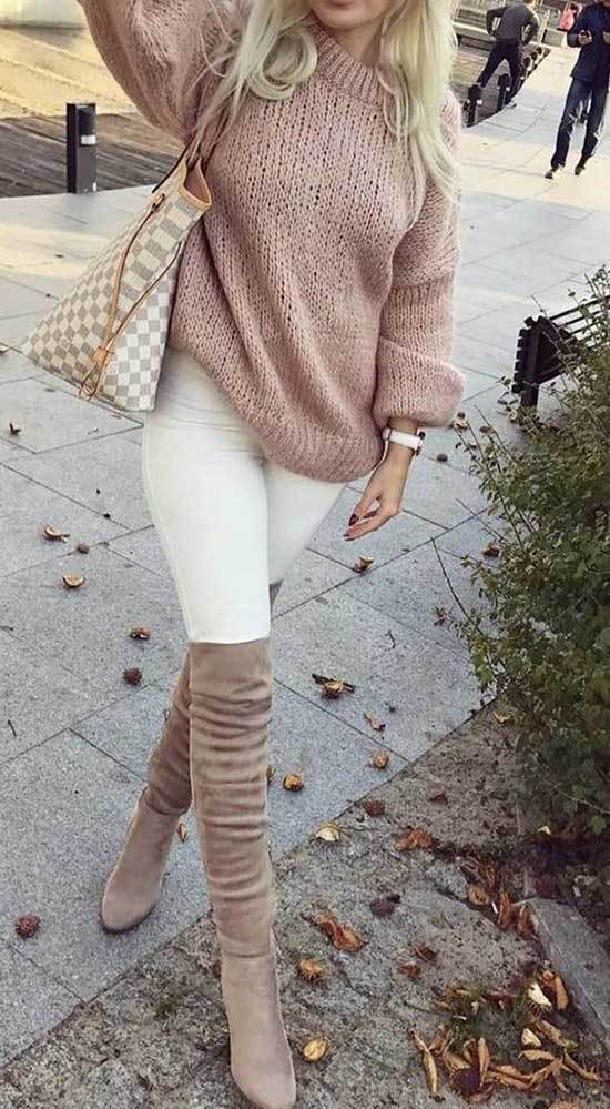 Knee High Boots Work Outfits Fall 2019-10