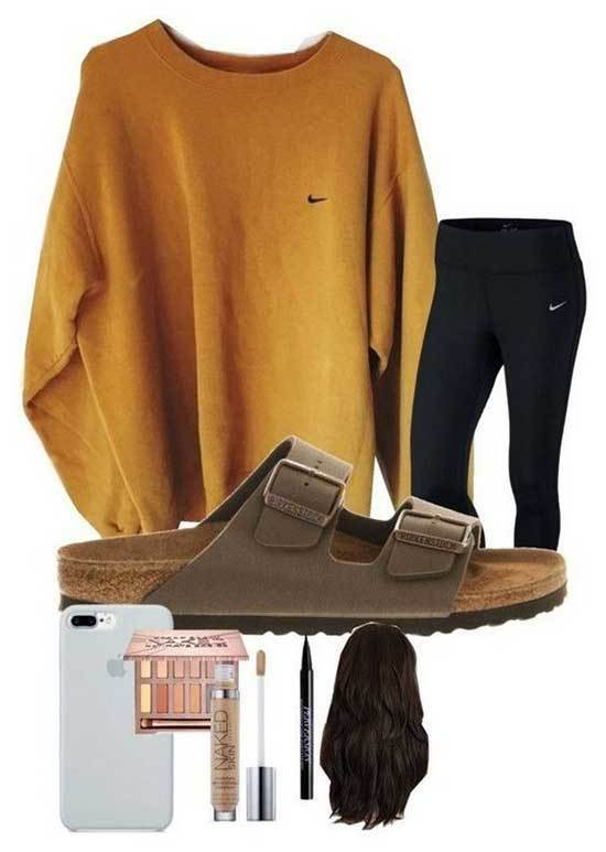 Leggings Outfit Ideas for School-11