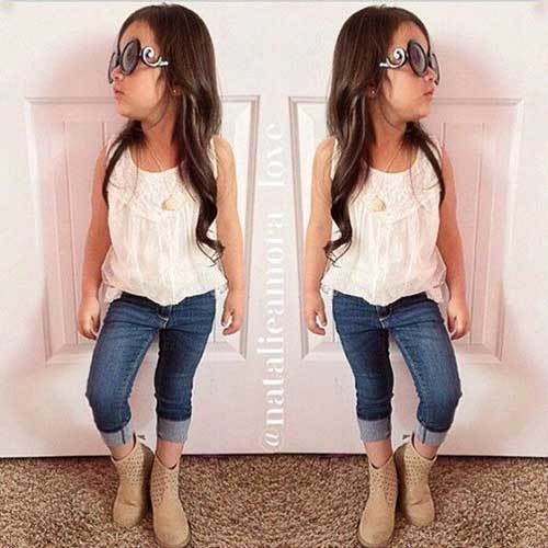 Cute Little Girl Jeans Outfits-12