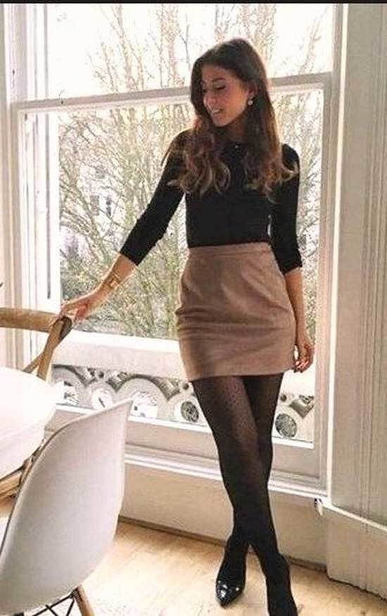 Mini Skirt Style Work Outfits Fall 2019-19