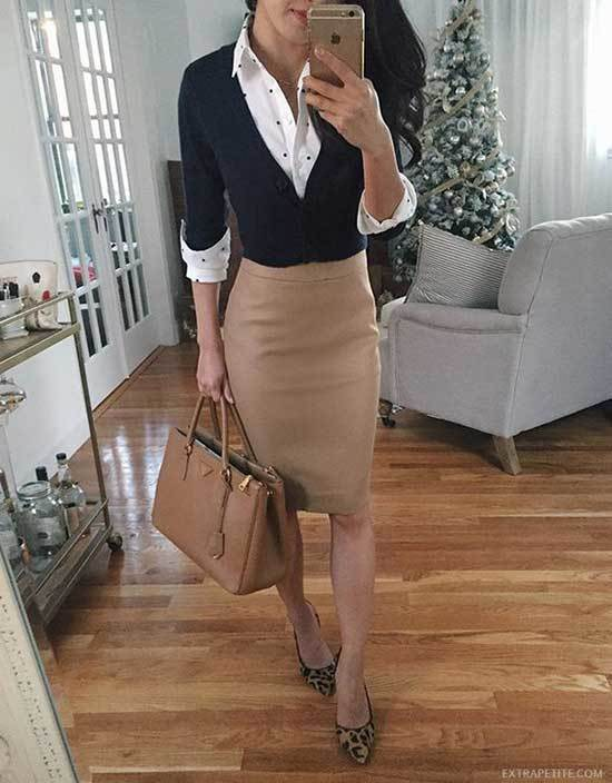 Pencil Skirt Interview and Work Outfits Fall 2019-20