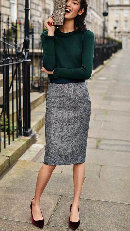 Pencil Skirts Work Outfits Fall 2019-6