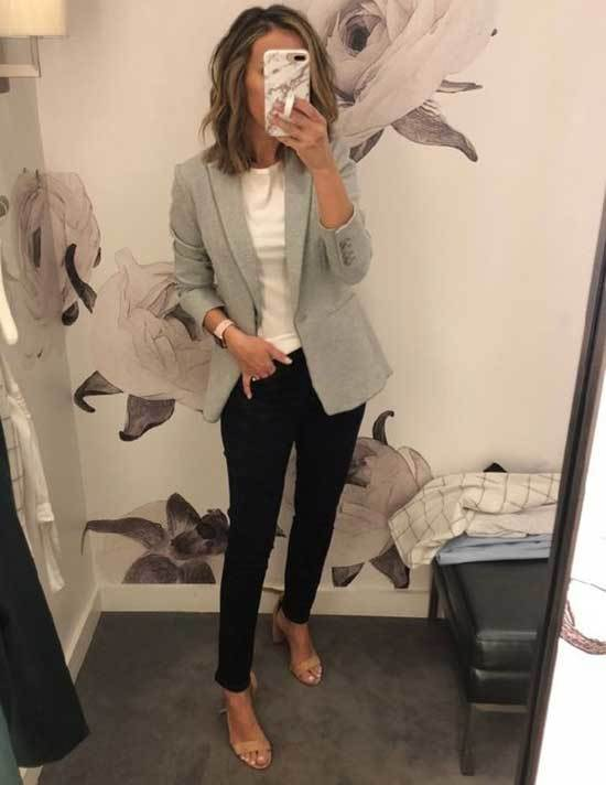 Simple Blazer Work Outfits Fall 2019-9