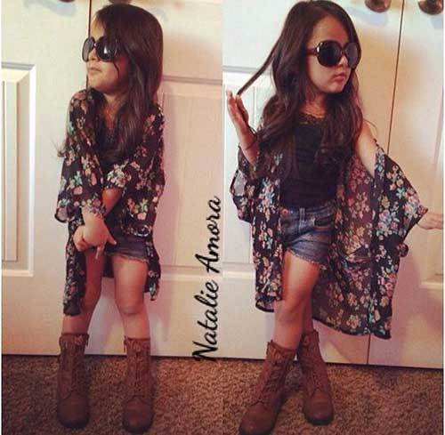 Cute Little Girl Cardigan Outfits-9