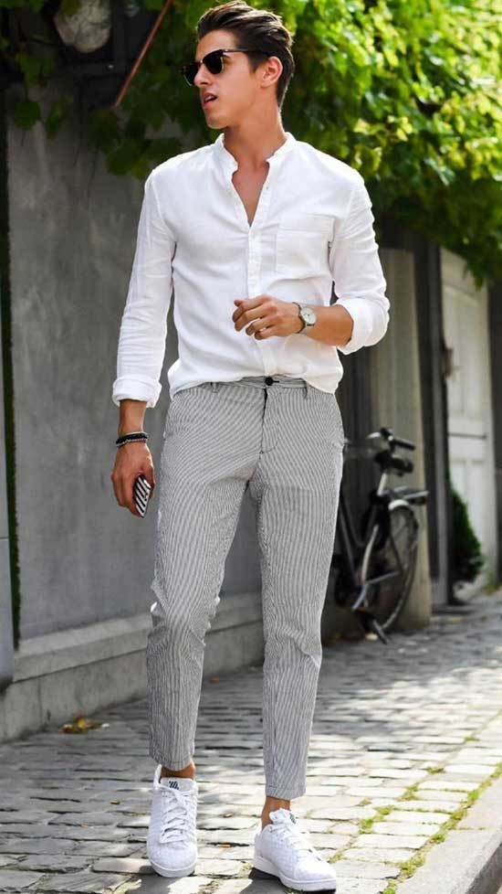 Business Casual White Outfits Men