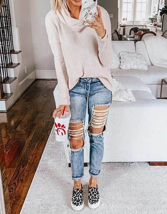 All Ripped Style Casual Spring Outfits 2019