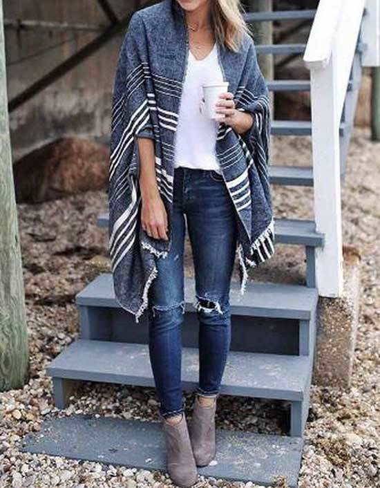 Casual Spring Big Scarf Outfits 2019