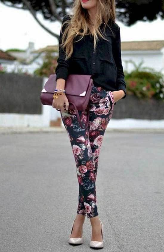 Casual Spring Floral Pants Outfits 2019