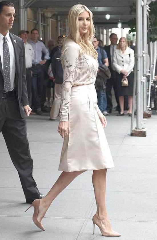 Ivanka Trump Beige Outfits