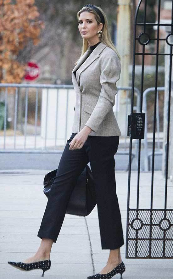 Ivanka Trump Black Pants Outfits